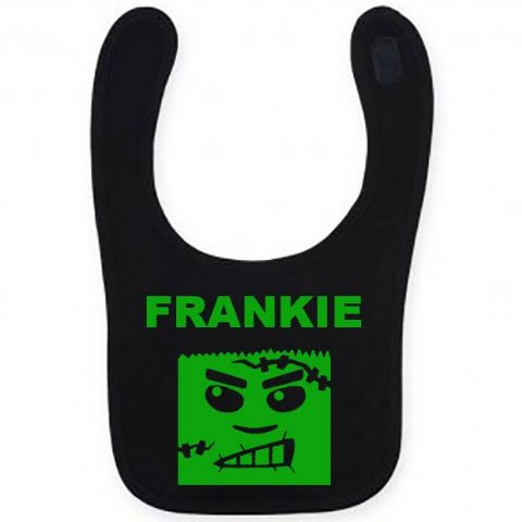 Personalised Halloween Frankenstein Bib